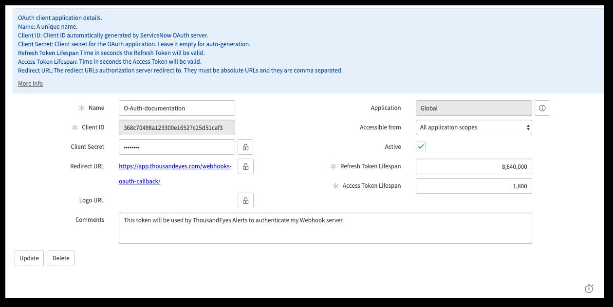 Using Webhooks (server sample code included) - ThousandEyes